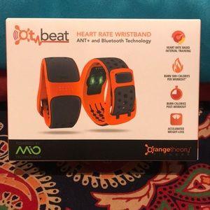 Orange Theory heart rate wristband!